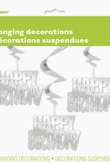 Silver Happy Birthday Swirls 3ct