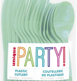Mint Solid Assorted Plastic Cutlery 18ct