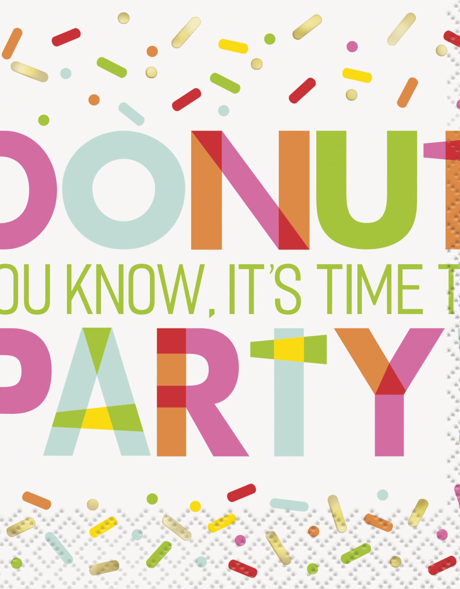 Donut Printed Birthday Beverage Napkins 16ct