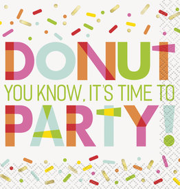 Donut Printed Birthday Beverage Napkins 16ct