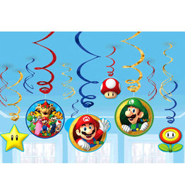 Super Mario Hanging Swirls 12ct