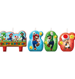 Super Mario Wax Candles 4ct