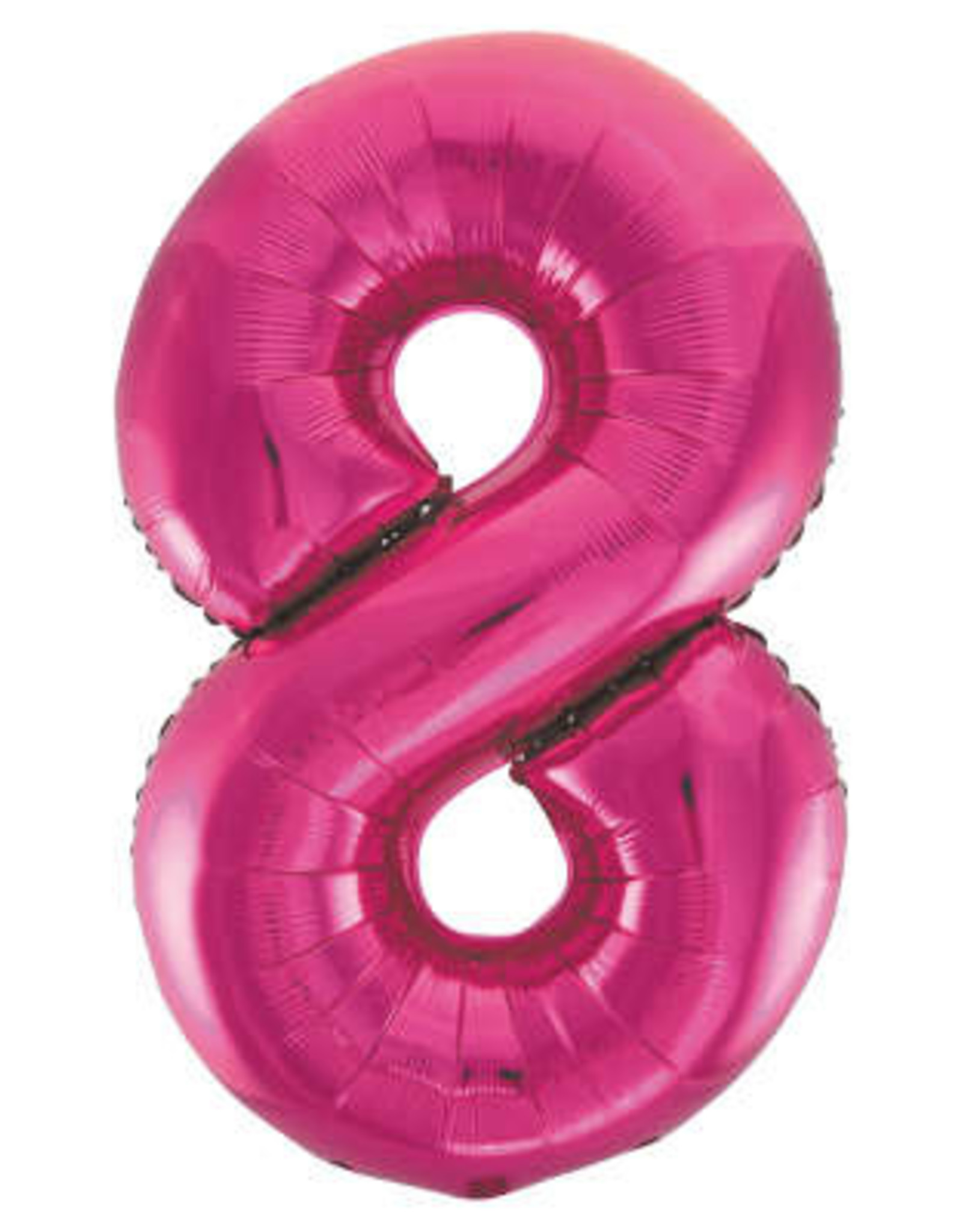 "34"" Hot Pink Number 8 Balloon"