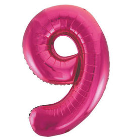 "34"" Hot Pink Number 9 Balloon"