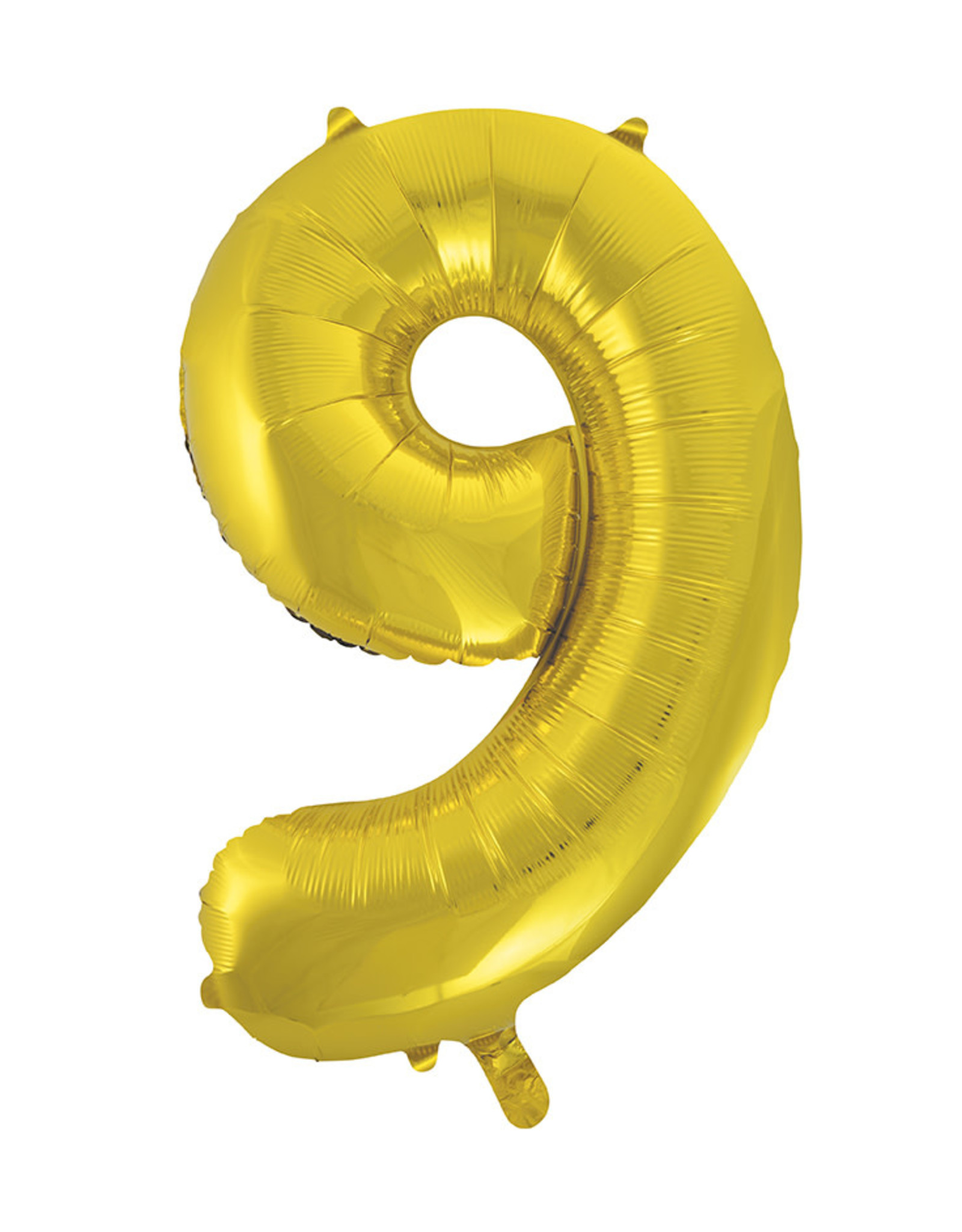 """34"""" Gold Number 9 Balloon"""