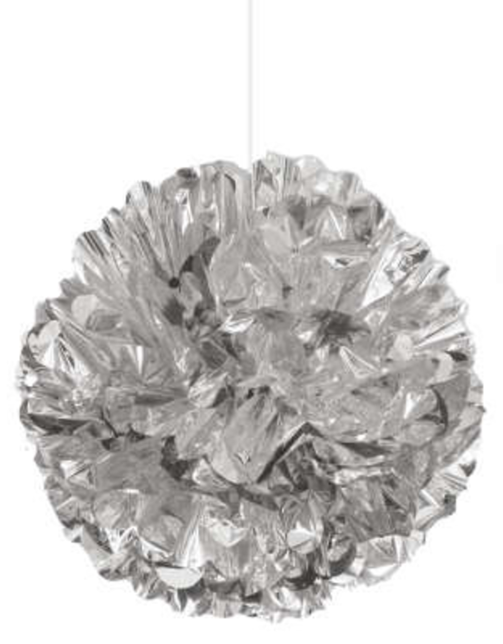 """16"""" Foil Silver Puff Ball"""