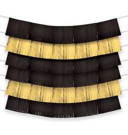 Black And Gold Fringe Backdrop