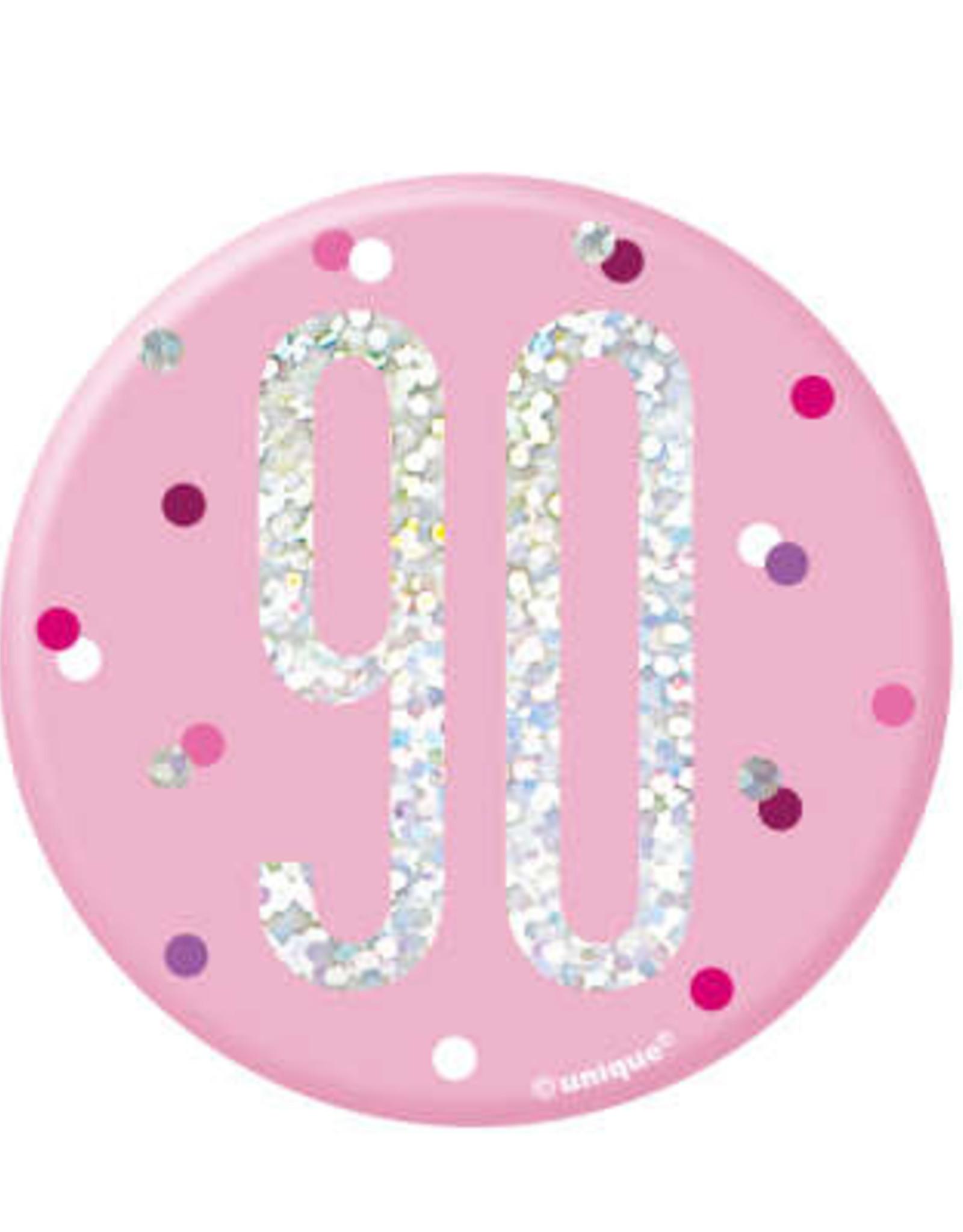 Pink 90th Pin
