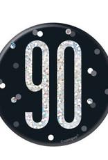 Glitz Black 90 Pin