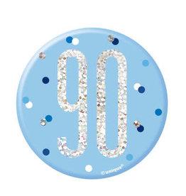 Glitz Blue 90th Pin
