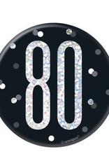 Black Glitz 80 Pin