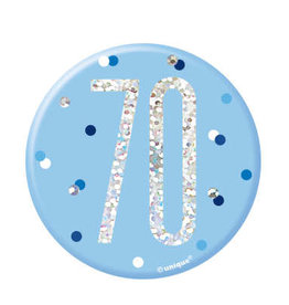 Glitz Blue 70th Pin