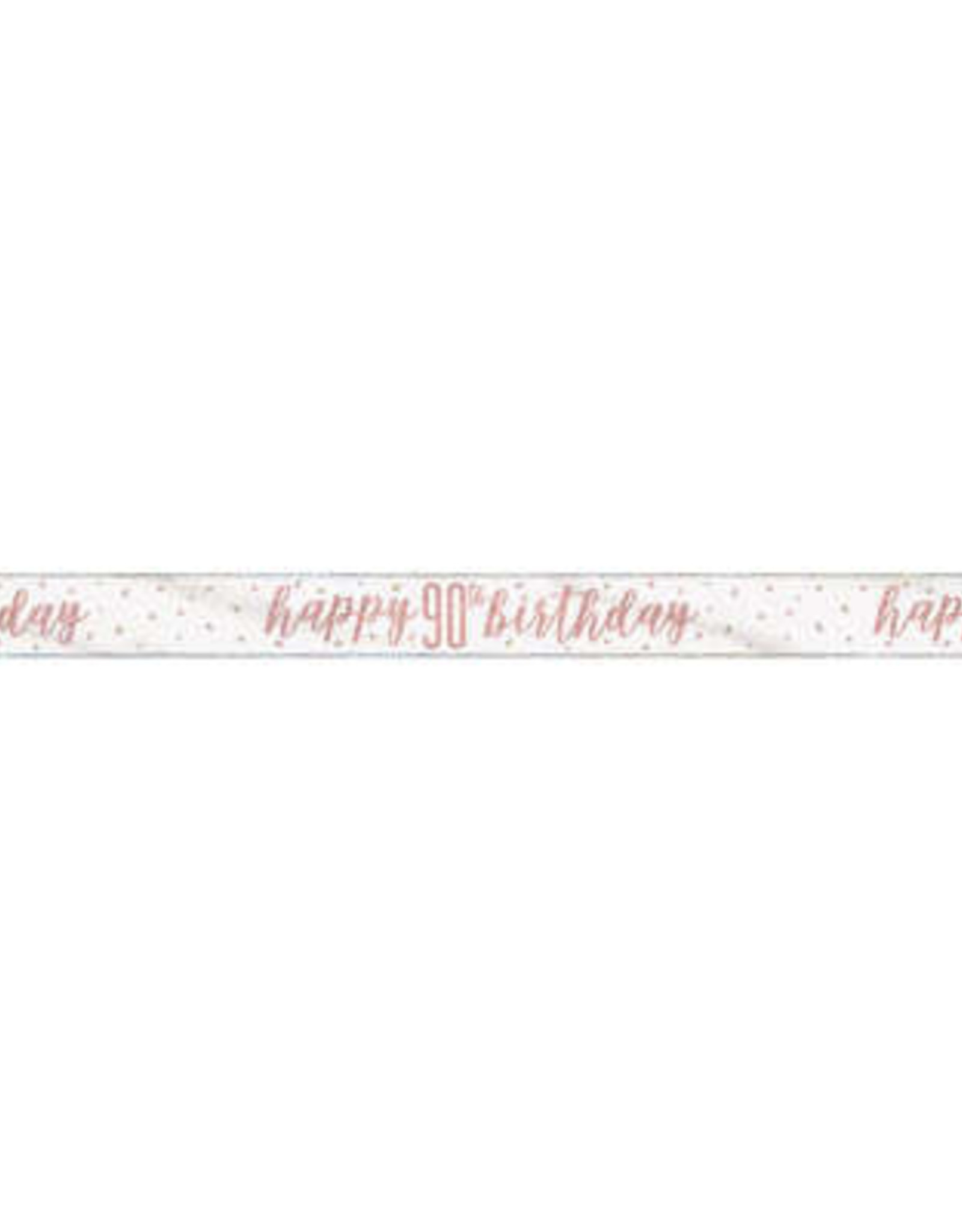 Glitz Rose Gold 90th Birthday Banner 9FT