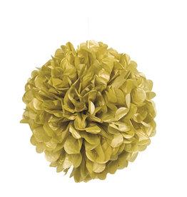 """16"""" Gold Paper Puff Ball"""