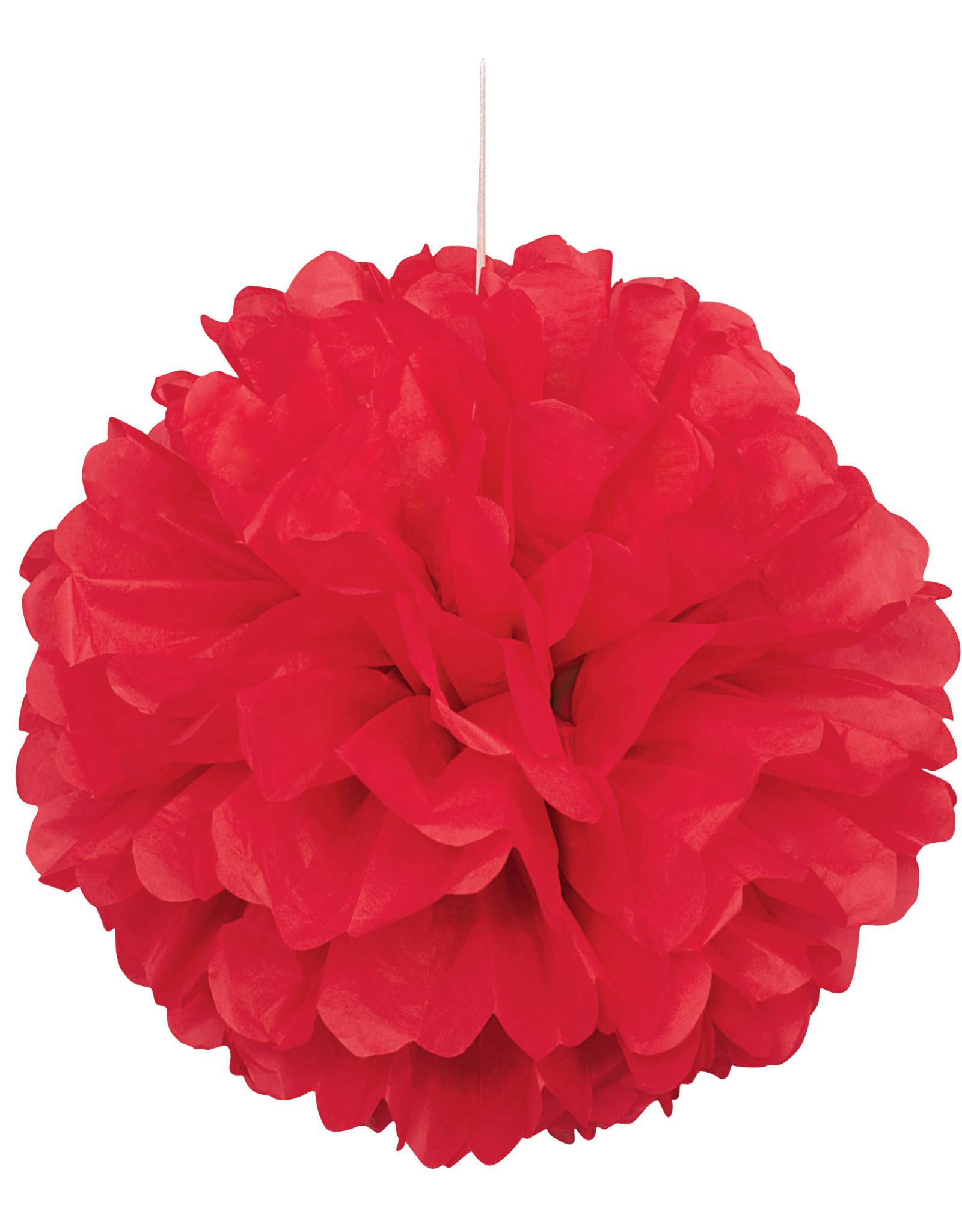 """16"""" Red Paper Puff Ball"""