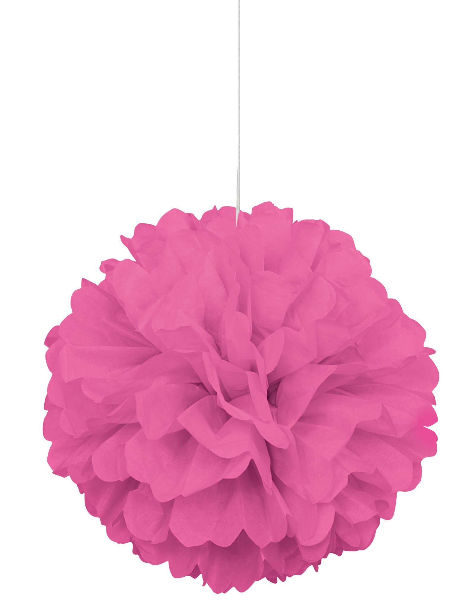 """16"""" Hot Pink Paper Puff Ball"""