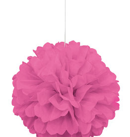 "16"" Hot Pink Paper Puff Ball"