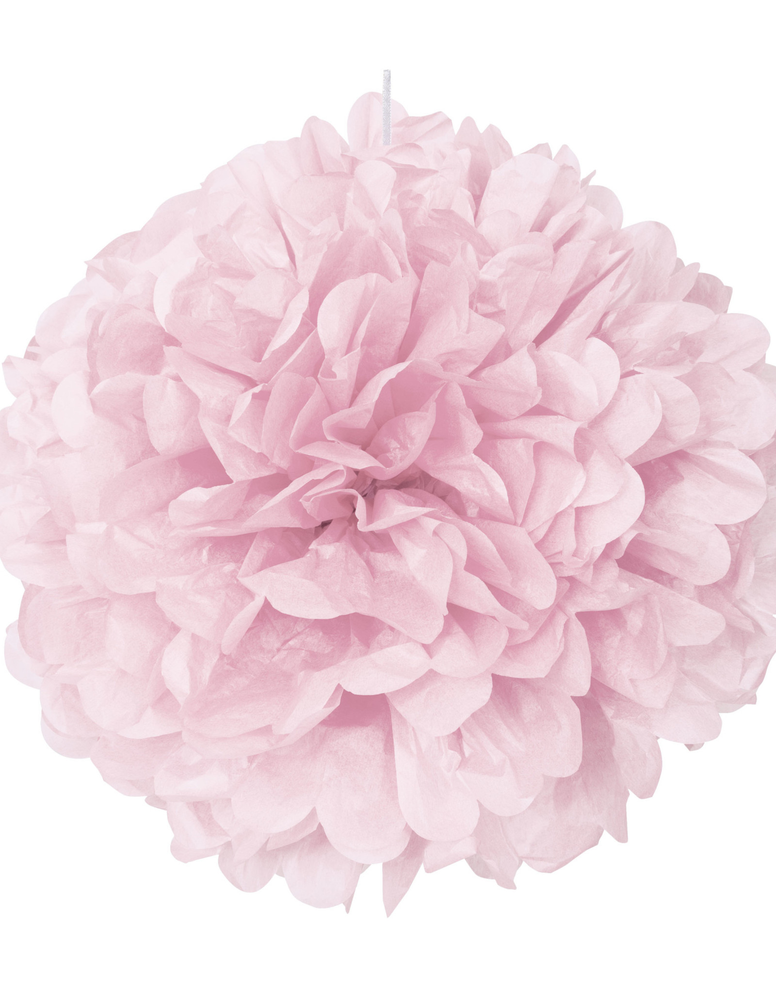 "16"" Light Pink Paper Puff Ball"