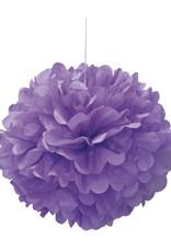 "16"" Light Purple Paper Puff Ball"