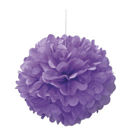 "16"" Light Purple Paper Puff Ball"