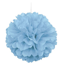 "16"" Light Blue Paper Puff Ball"