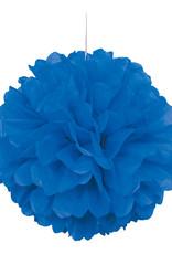 "16"" Royal Blue Paper Puff Ball"