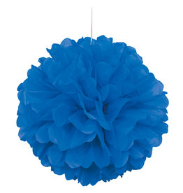 "16"" Royal Blue Paper Puff Ball"