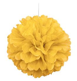 "16"" Yellow Paper Puff Ball"