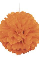 "16"" Pumpkin Orange Paper Puff Ball"