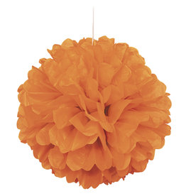 "16"" Pumpkin Orange Paper Puff Ball"
