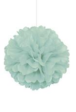 "16"" Mint Paper Puff Ball"