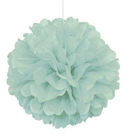 "16"" Mint Paper Puff Ball"