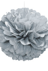 "16"" Silver Paper Puff Ball"
