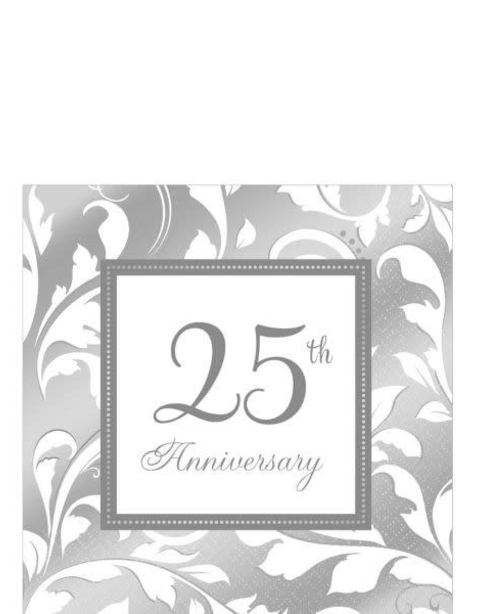 25th Anniversary Beverage Napkins 16CT