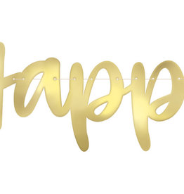 Gold 'Happy Anniversary' Banner 6FT