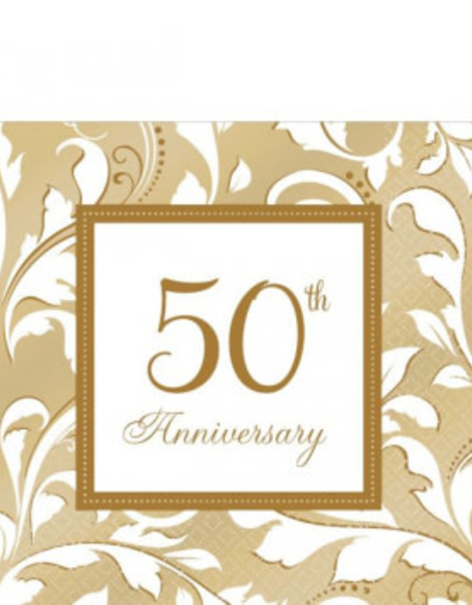 50th Anniversary Beverage Napkin 16ct