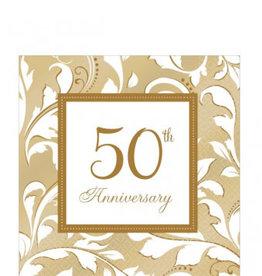 50th Anniversary Beverage Napkin 16ct