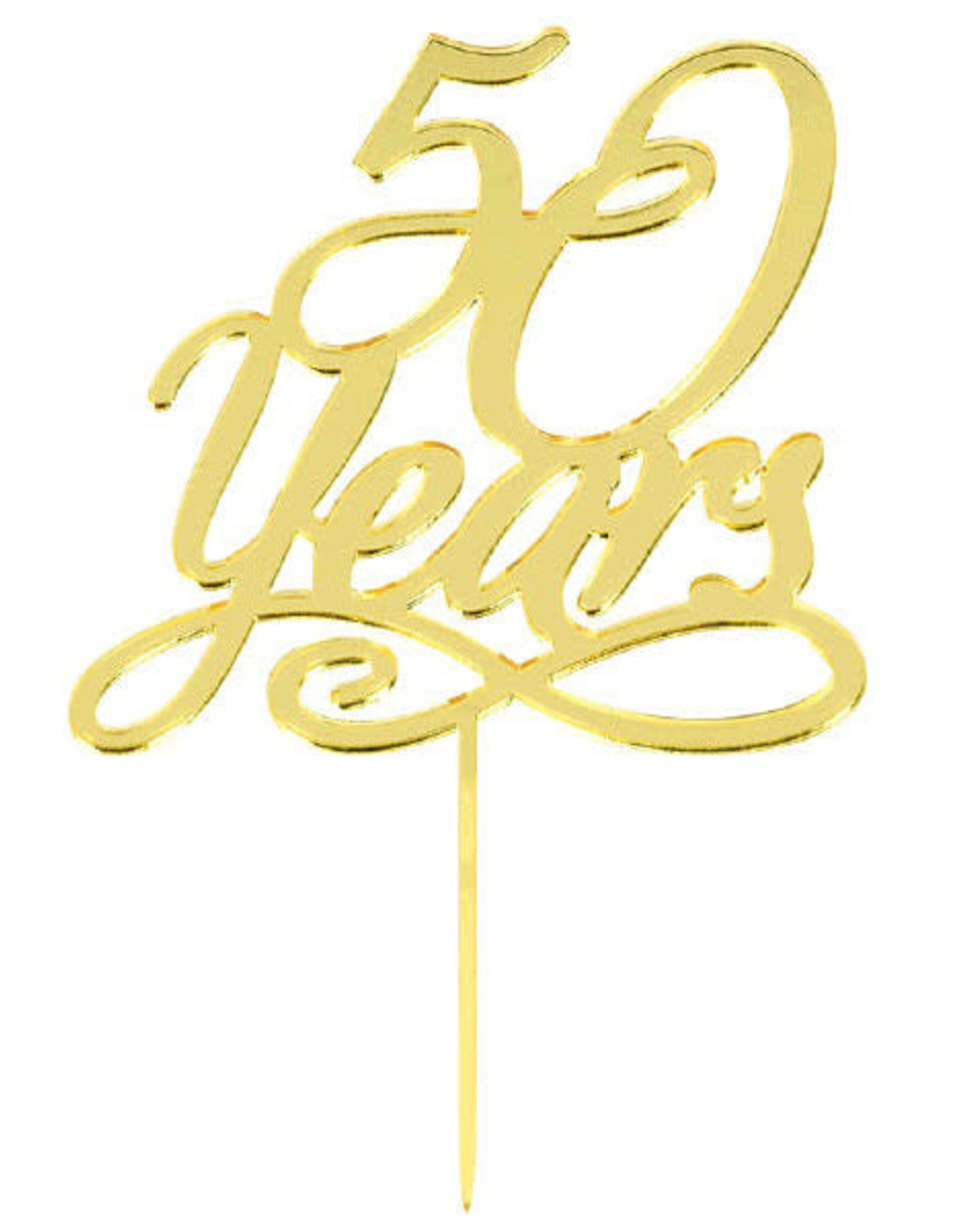 Gold 50 Years Cake Topper