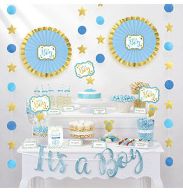 Blue Baby Shower Treat Table Decorating Kit