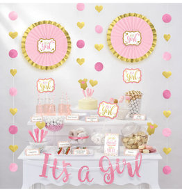 Pink Baby Shower Treat Table Decorating Kit