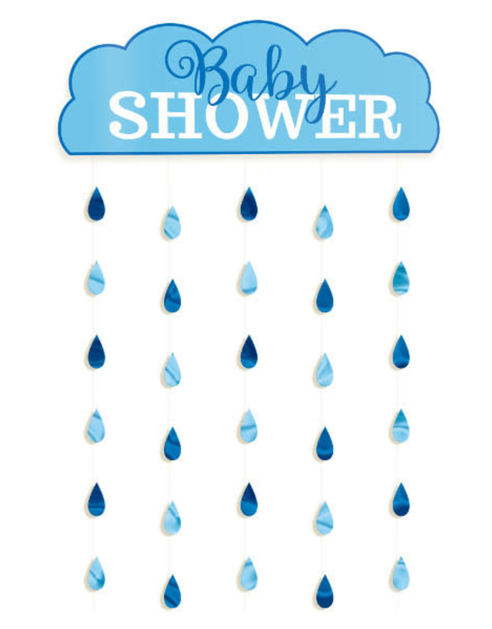 Blue Baby Shower Hanging Decoration Cloud