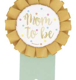 Mom To Be Foil Baby Shower Badge