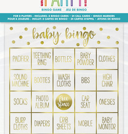 Gold Baby Shower Bingo Game 8ct