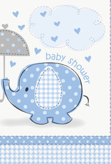 Blue Elephant Baby Shower Luncheon Napkins 16ct