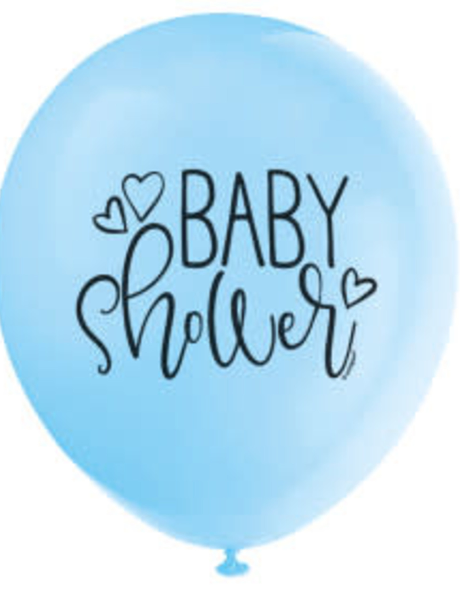"""Blue Baby Shower 12"""" Latex Balloons 8ct"""