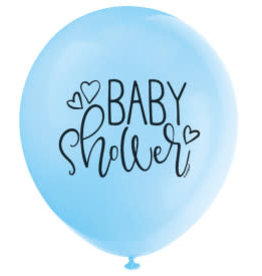 "Blue Baby Shower 12"" Latex Balloons 8ct"