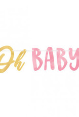 Oh Baby Pink Banner 12FT