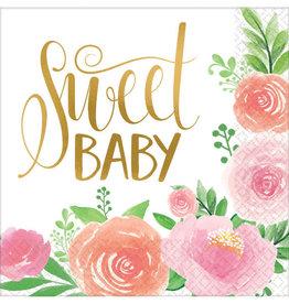 Sweet Baby Girl Luncheon Napkins 16ct