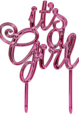 'It's a Girl' Pink Cake Topper