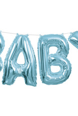 Blue 'BABY' Air Fill Only Balloon Banner